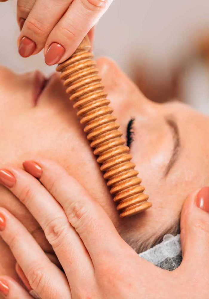 Face Massage. Anti-Aging Madero therapy Face Treatment at Cosmetology Center